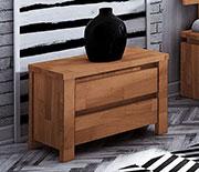 chevet 2 tiroirs en bois