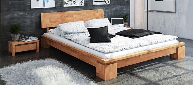 lit bas moderne en bois