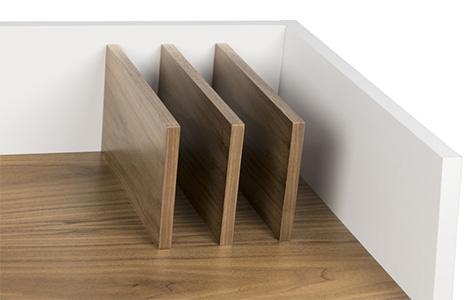 Bureau en bois avec rangements