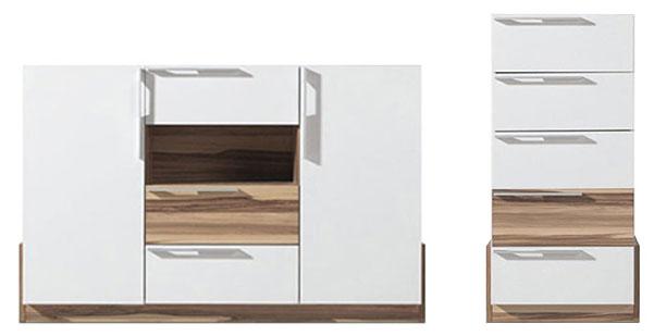 Commodes design blanches pour lit bois White