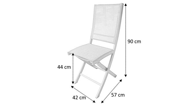 Dimensions chaise pliante whitestar
