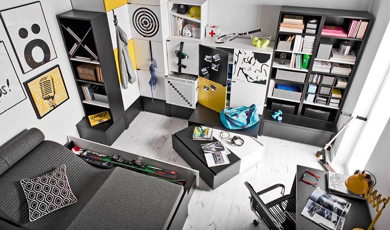 Aménager une chambre ado noir et blanc